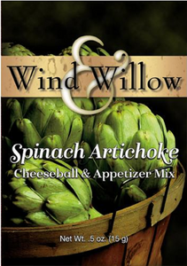Wind & Willow - Cheeseball & Appetizer Mix - Spinach Artichoke - .5 OZ