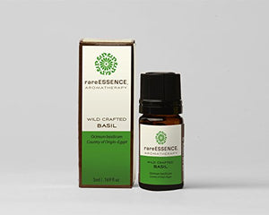 RareEssence - Aromatherapy - Essential Oil - Basil { Wild Crafted } - 5ml