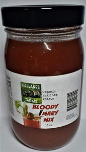 Highlands Farms Bloody Mary Mix - 16 OZ - Made with Organic Heirloom Tomatoes
