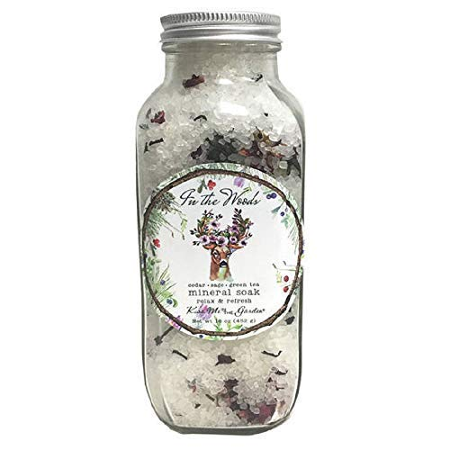 Kiss Me in The Garden - In The Woods Collection - Mineral Bath Salt Soak 16 OZ - Kiss00083