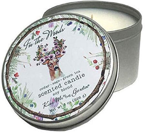 Kiss Me in the Garden - in The Woods Collection - Travel Tin Candle 8 OZ - KISS00082
