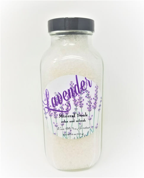 Kiss Me In The Garden - Lavender Lovers Collection - Mineral Soak - KISS00093