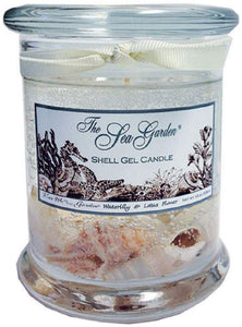 Kiss Me in the Garden - Sea Garden Collection - 12 Ounce Gel Candle with Shells -  KISS00005