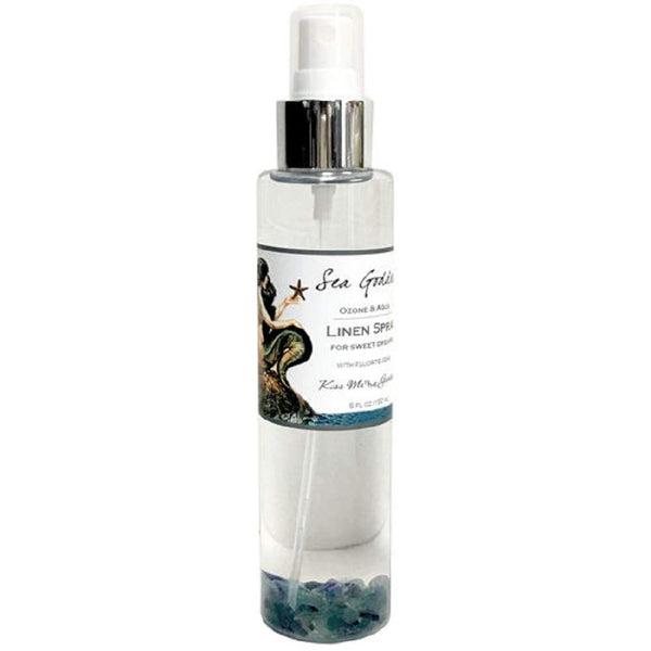 Kiss Me in The Garden - Sea Goddess Collection -  Linen Spray with Fluorite Gems - KISS00115