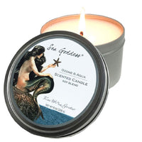 Kiss Me in the Garden- Sea Goddess Collection - Travel Soy Candle in Tin 8 OZ - Kiss00086