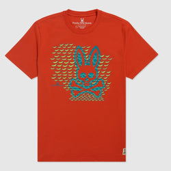Psycho Bunny - Men's Newbold Graphic Tee Fiesta Orange