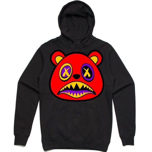 Baws Pull Over Hoodie - 1001 Black/Red