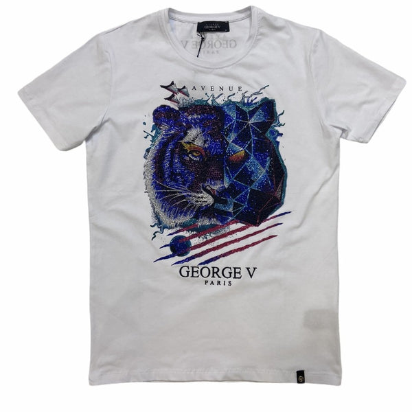 George V - Tiger Tee White