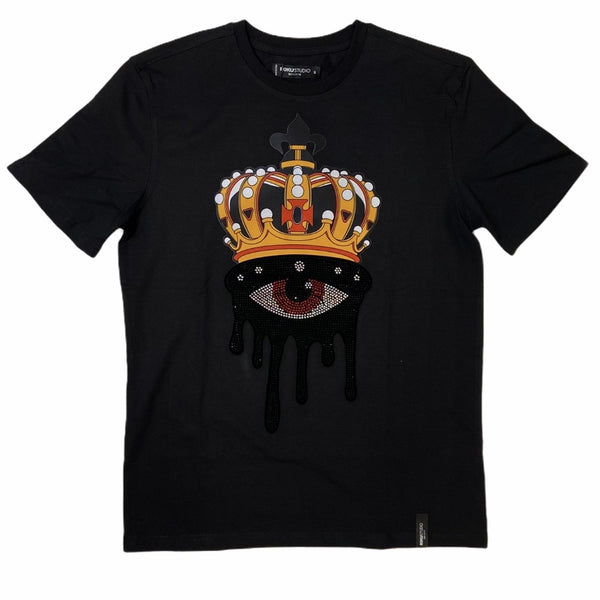 Roku Studio - Rhinestone One Eye King Black