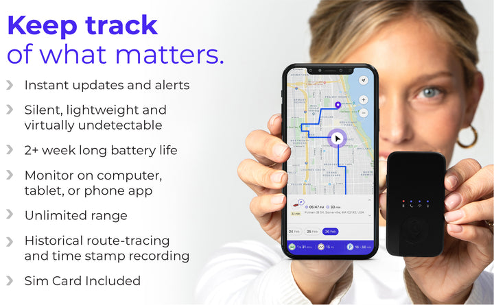 GPS Tracking Device w/ $49.99/mo for 6 Months Service Plan