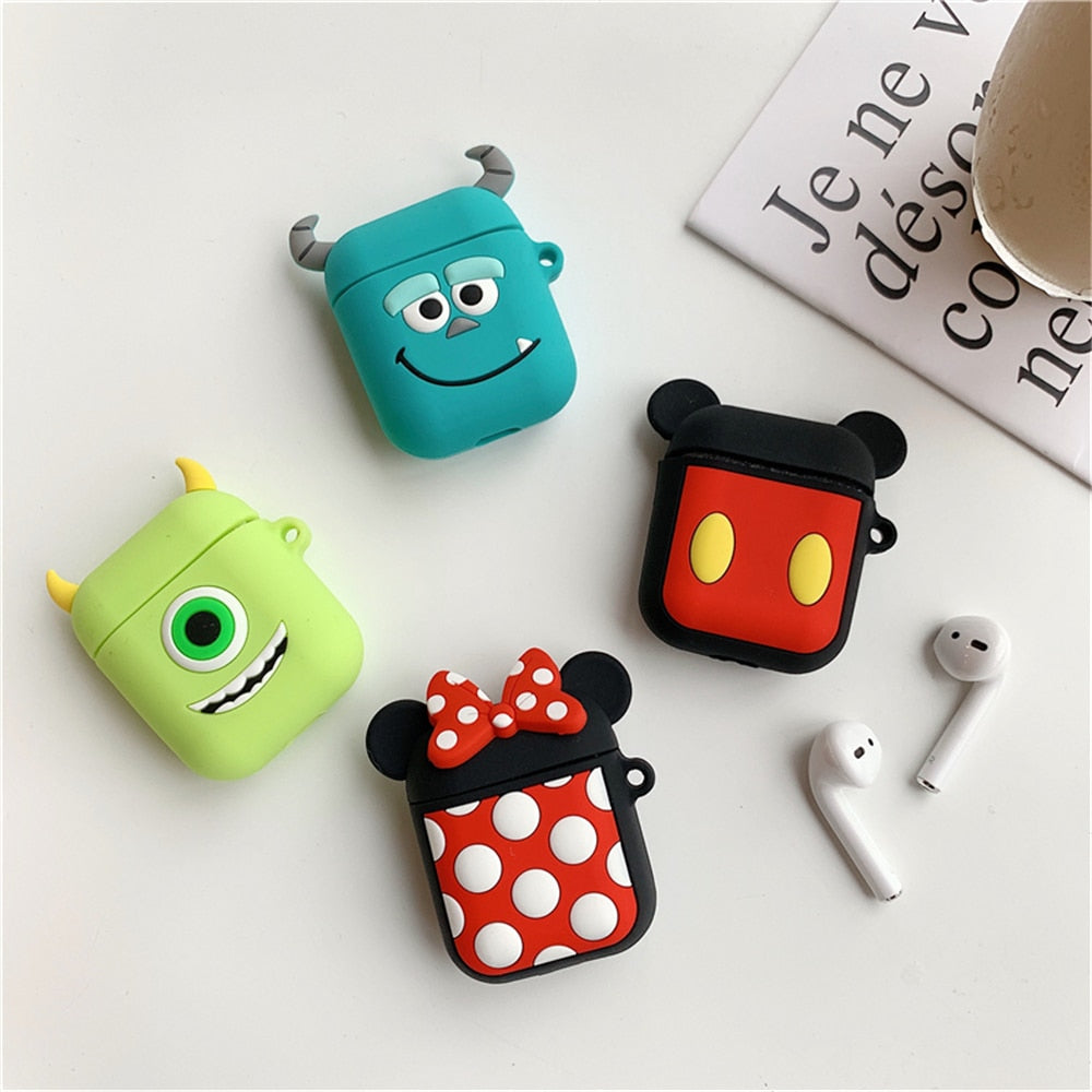 Earphone Cases For Apple AirPods 1 2 Cute Cartoon Silicone Covers Bluetooth Wireless Air Pods AirPods2 Luxury Anime Accessories
