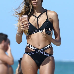 High Waist Thong Bikini