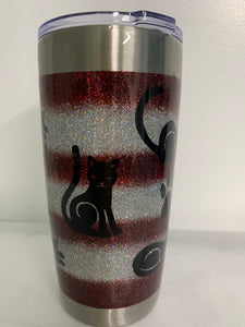 """Cat Mom"" 20 oz. tumbler"