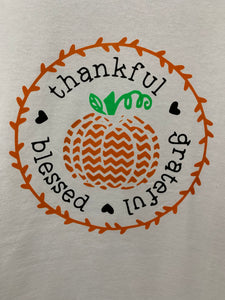 """Thankful, Blessed, Grateful"" t-shirt"