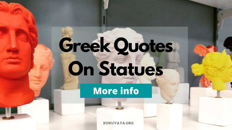 Greek statues with quotes