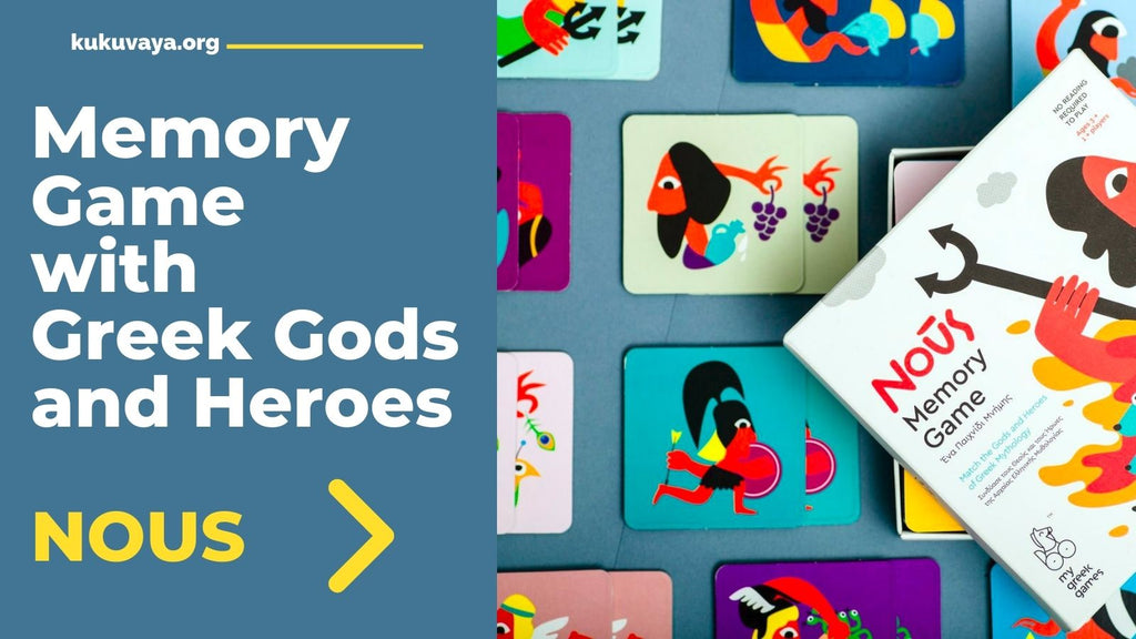 Match match or memory game with Greek mythology gods