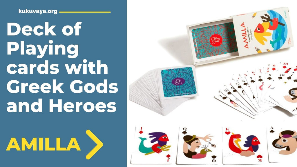 Playing cards depicting Greek mythology figures
