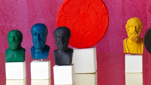 Greek philosopher bust in various colors by sophia enjoy thinking in modern home decor