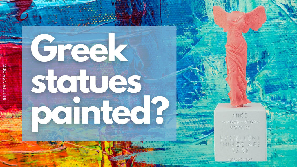 Greek statues painted - painted parthenon