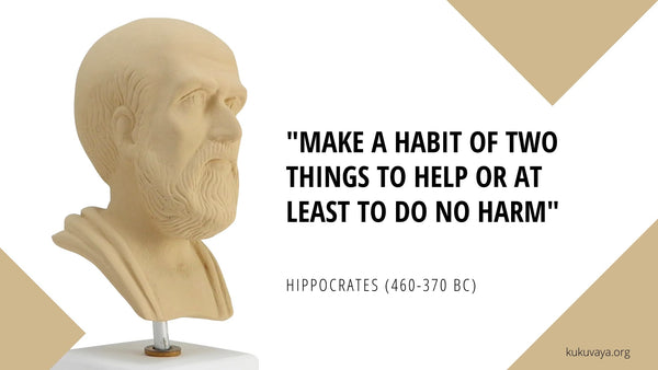 Hippocrates oath quote - Make a habbit - do no harm
