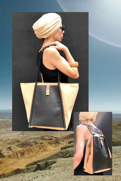 Redo bags - handmade multifunctional bags made of cork and leather