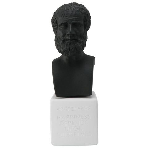 Aristotle bust in black color - gift for philosophy professor