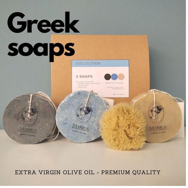extra virgin olive oil soaps made in Greece - premium soaps