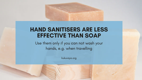 hand sanitizers or soap, Hand sanitizers & wipes are less effective than soap
