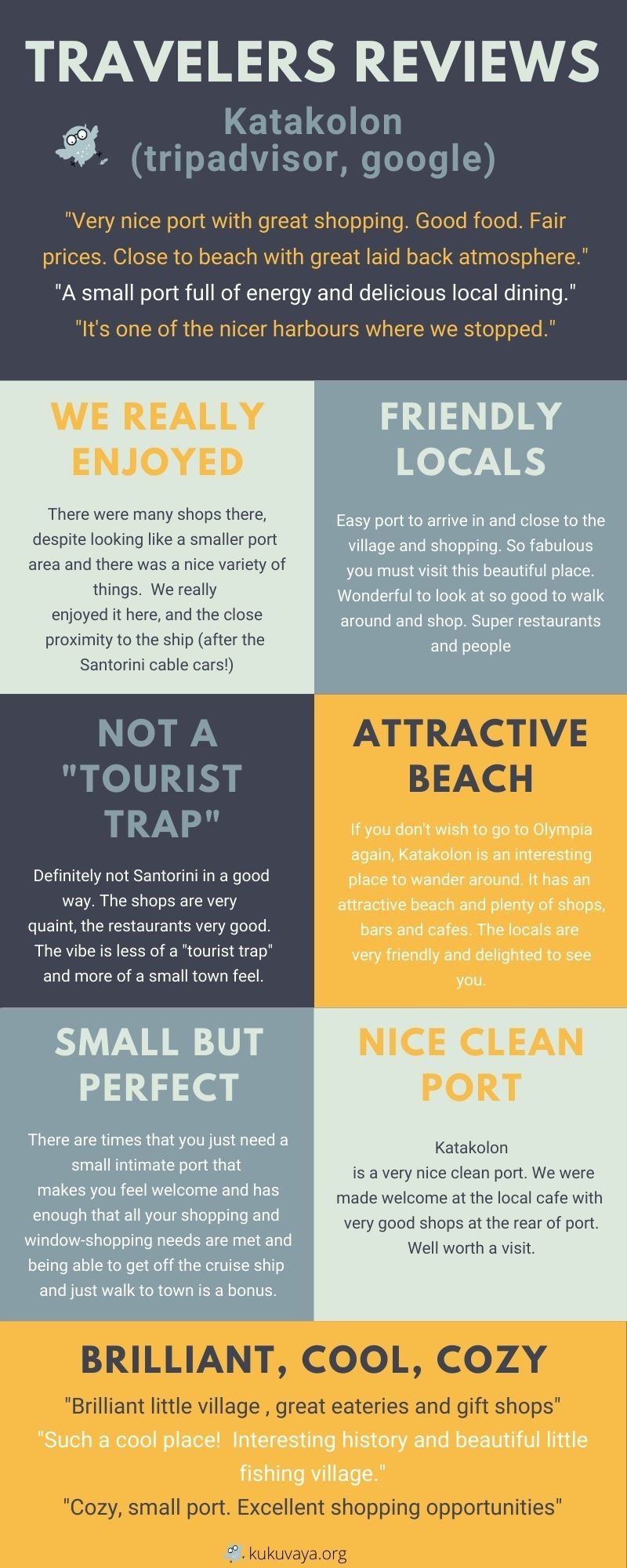 Katakolon things to do and reviews infographic