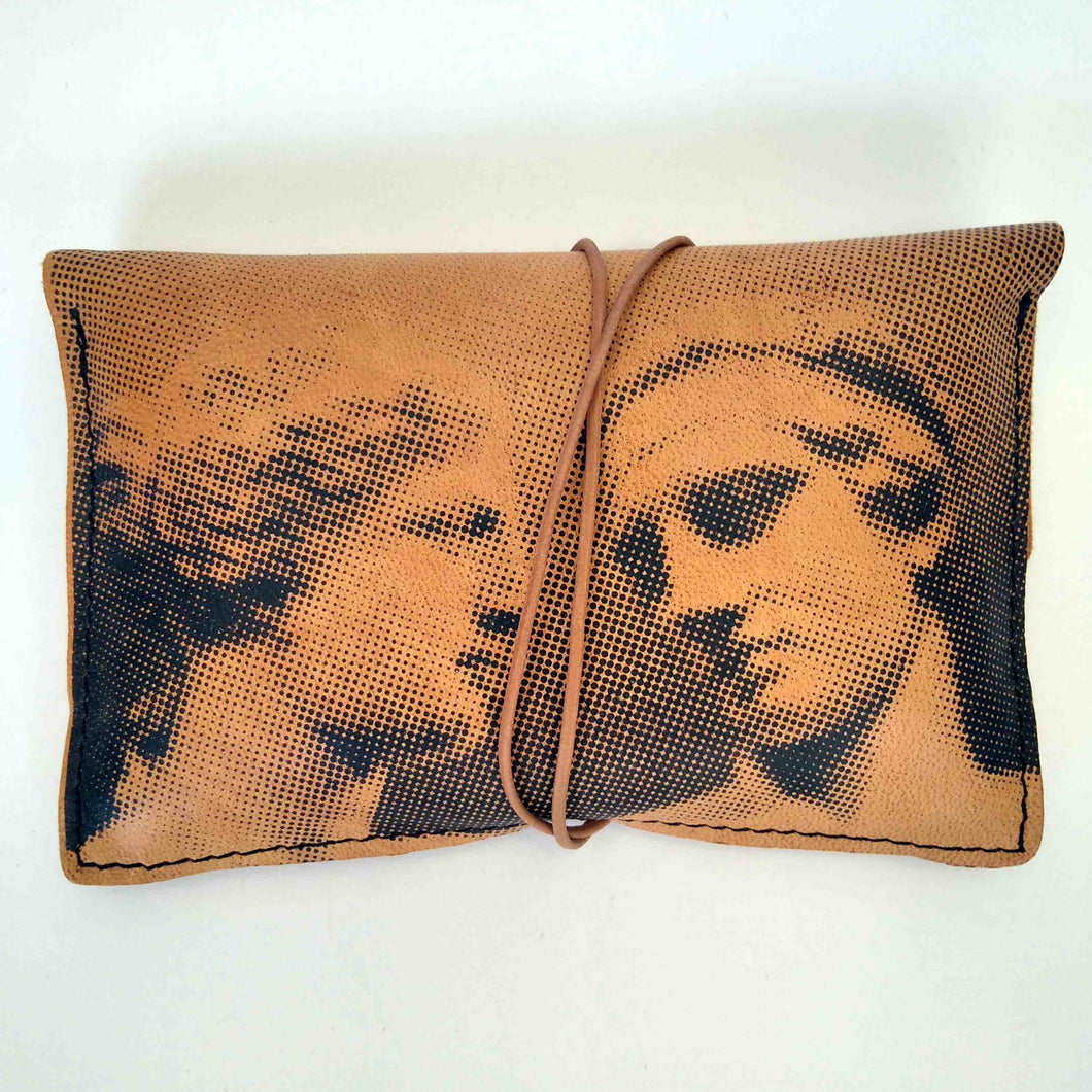 Aphrodite de Milo and Diadumenos small leather tobacco pouch front