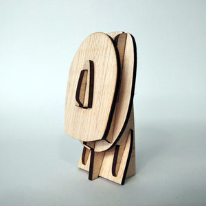 Cycladic culture head 3d plywood puzzle side