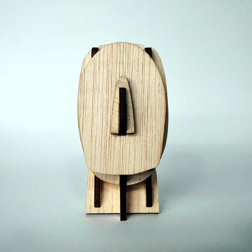 Cycladic culture head 3d plywood puzzle