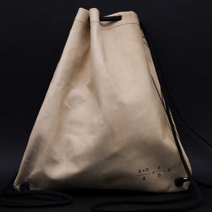 unisex Golden Ratio goat leather silkscreen backpack slingbag Drawstring bag back