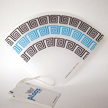 Load image into Gallery viewer, Greek meanders pattern on a fan made in Greece perfect gift for her