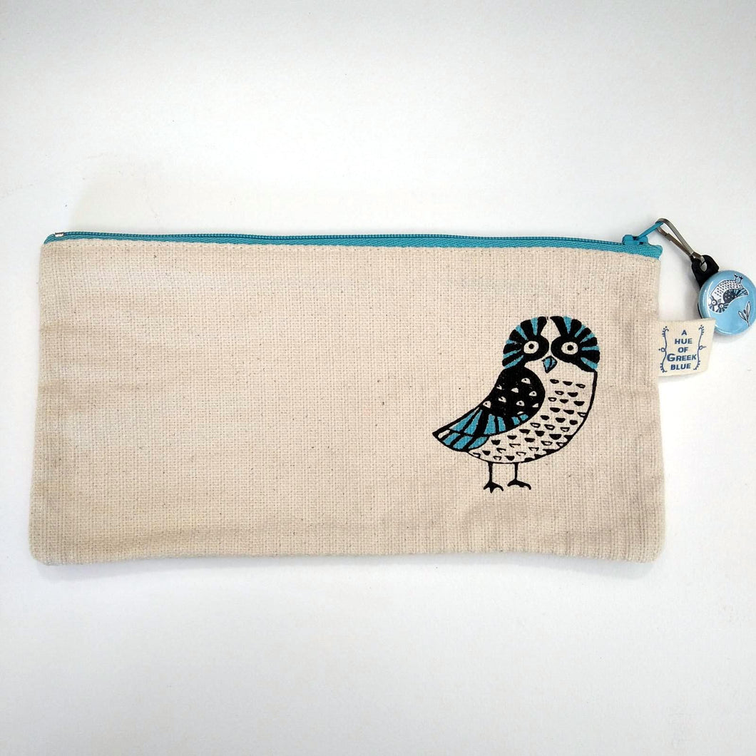 Greek owl pencil case / purse