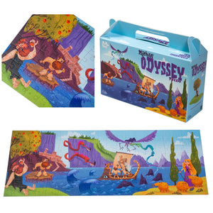 Odyssey puzzle 160 pieces educational box and details