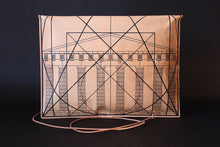 Load image into Gallery viewer, Portfolio Large Golden Ratio Goat Leather Black Silkscreen Front