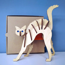 Load image into Gallery viewer, Cat 3d puzzle made from plywood with exceptional design
