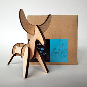 The bull small 3d plywood puzzle with packaging