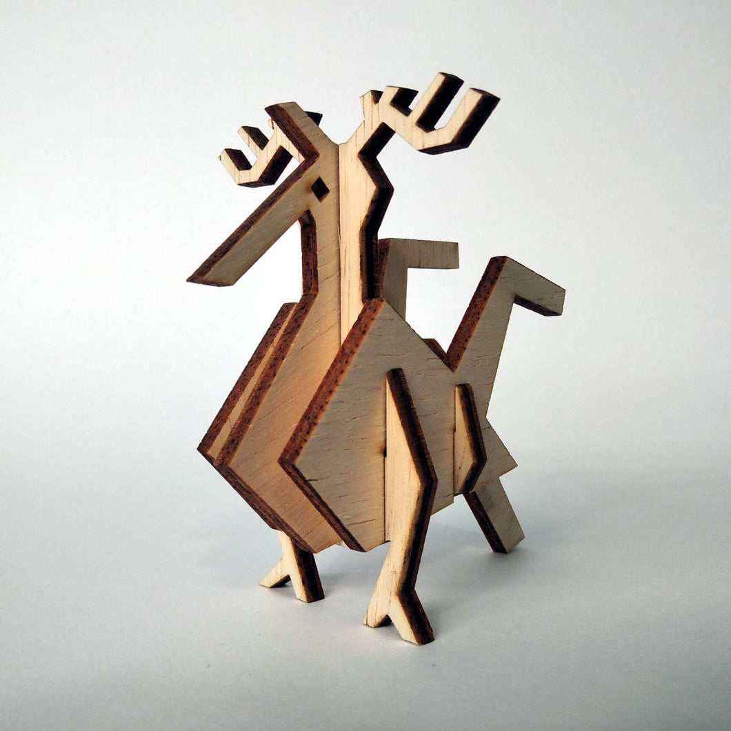 The rooster small 3d plywood puzzle inspired by Greek nature