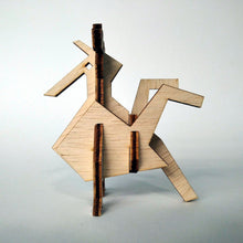 Load image into Gallery viewer, The rooster small 3d plywood puzzle inspired by Greek nature in a geometric way