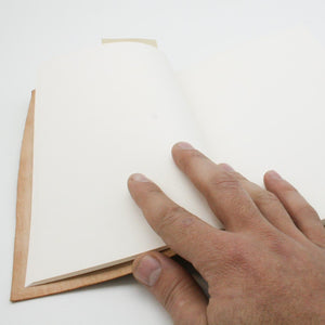 Goat leather silkscreen A6 notebook about golden ratio and Greek architecture inside