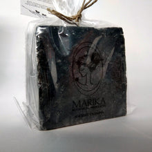 Load image into Gallery viewer, Activated charcoal three Greek oliveoil soaps in a gift box detail soap