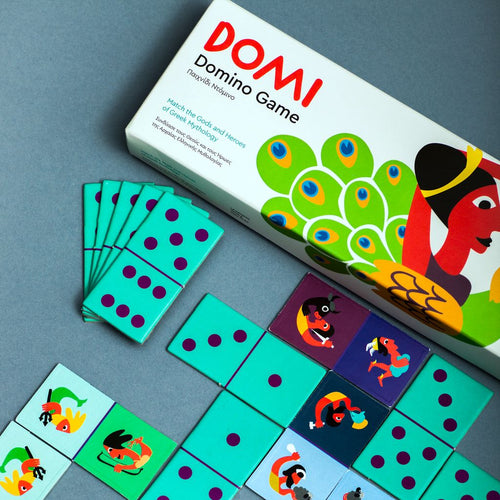 Domino game for children inspired by Greek mythology