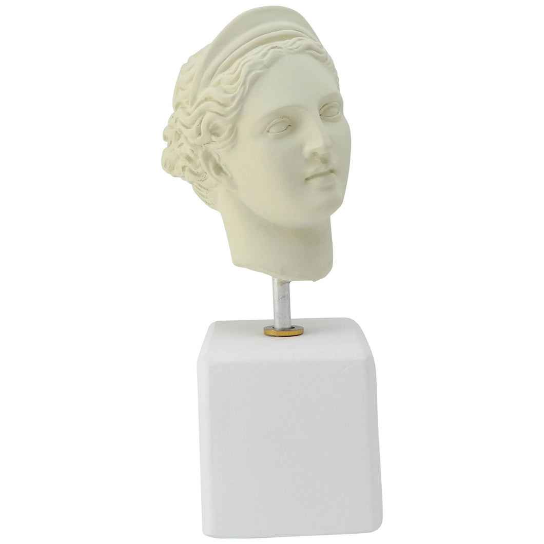 Female bust - Ice White Bust of Goddess Artemis (front)