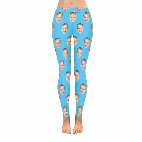 Custom Girl Face Low Rise Leggings