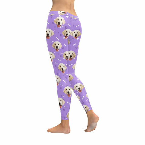 Custom Dog Face Low Rise Leggings