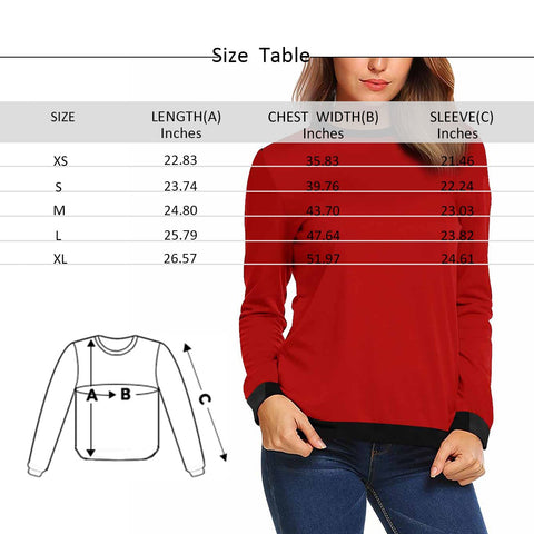 Custom Face Artistic Design Women's Crewneck Sweatshirt customweekend