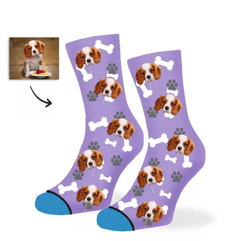 Custom happy dog Socks