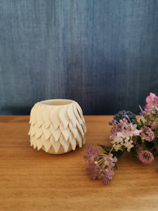 Small White Petal Vessel